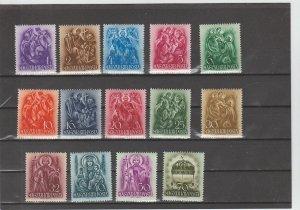 Hungary  Scott#  511-524  MH  (1938 St. Stephen)