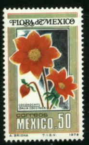 MEXICO 1163 Flora of Mexico - Dahlia. MINT, NH. F-VF.