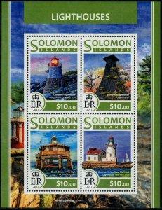 HERRICKSTAMP NEW ISSUES SOLOMON ISLANDS Sc.# 2304 Lighthouses Sheetlet