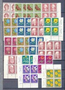 SWITZERLAND 1958/59 Pro Juventute Flowers MNH (Apx 120 Stamps)(SWI 29
