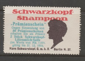 Cinderella revenue fiscal stamp 9-9-24 Germany