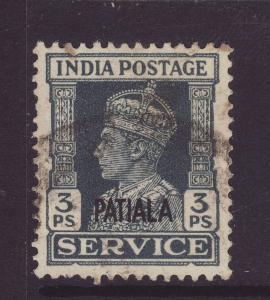1940 India – Patiala 3 Pies Official F/U SGO71