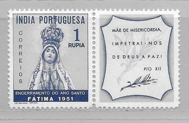Portuguese India 506 Holy Year single with label MLH