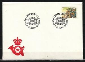 Denmark, Scott cat. 754. Scouts & Campfire issue on a First day cover. ^