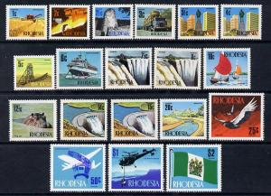 Rhodesia 1970-73 New Currency definitive set complete 19 ...