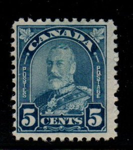 Canada Sc 170  1930 5c dull blue G V Arch issue stamp mint
