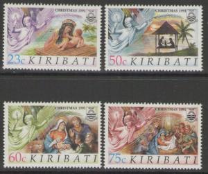 KIRIBATI SG373/6 1991 CHRISTMAS MNH