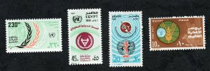 1981 - Egypt - United Nations Day - FAO - WHO - UIT - Welfare - Health - MNH**
