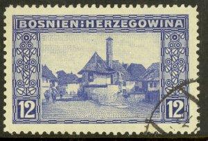 BOSNIA AND HERZEGOVINA 1912 12H JAICE Issue Sc 62 VFU