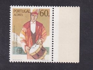 Portugal Azores  #353   MNH   1985  Europa   man playing drum