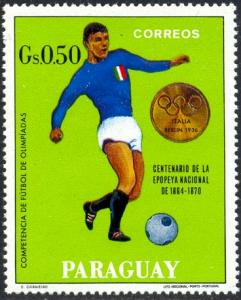 Olympic Soccer Champ., Italy, Berlin, 1936, Paraguay SC#1183 Mint