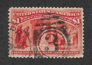 241 Used, $1 Columbian, scv: $575  Free Insured Shipping