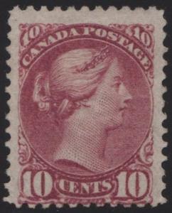 CANADA #40 VF+ PART OF OG LH CV $1,100.00 BR4442