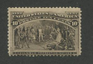1893 US Stamp #237 10c Mint Never Hinged Average Catalogue Value $240