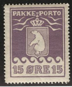 Greenland Rare 15Ore Pakke - Porto Parcel Post (Sc Q5) F-VF MOG...Hard to Find!