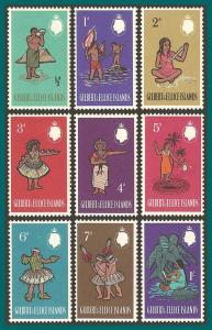 Gilbert & Ellice Islands 1965 Definitives, MLH  89-97,SG89-SG97
