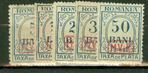 Romania 3NJ3-7 mint cV $25