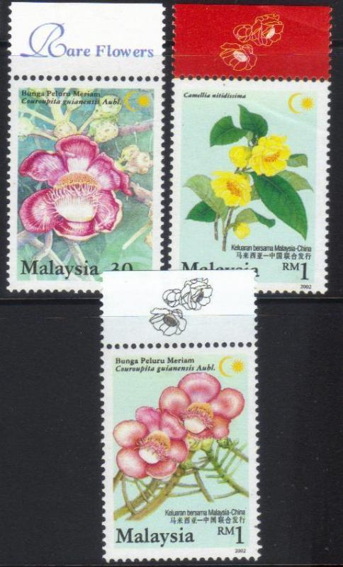 MALAYSIA 2002 MALAYSIA CHINA JOINT ISSUE MH SET OF 3