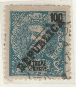 Portugal ST. THOMAS AND PRINCE ISLANDS 1913 100r Used A5P55F58