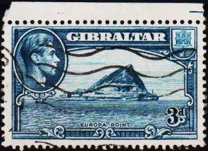 Gibraltar. 1938 3d  S.G.125b Fine Used