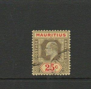 Mauritius 1910 EdV11 25c Used SG 190