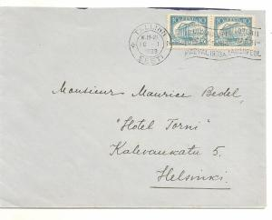 Finland 1933 Cover to Helsinki