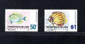 Christmas Island 32-33,    VF, Used,  CV $5.00 ....  1370009,1370010