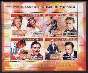 Guinea-Bissau MNH S/S Cinema Stars 2007 4 Stamps