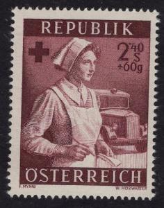 Austria    #B293   MNH 1954   social welfare. nurse   2.40s