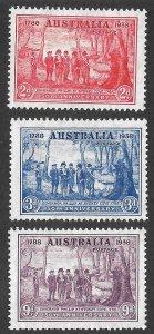 Doyle's_Stamps: 1937 XF M-VLH Australian Sydney Cove 150th Anniversary Set