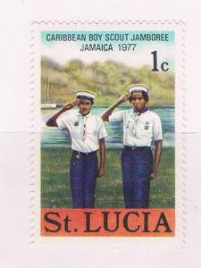 St Lucia 420 MNH Scouting 1977 (S0937)