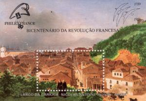 Brazil 1989 Sc#2197 FRENCH REVOLUTION BICENTENARY S/S (1) MNH