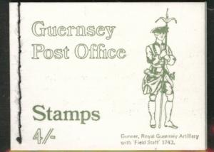 Guernsey Artillery Gunner 4 shilling sewn Booklet 1969