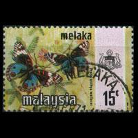 MALAYSIA-MALACCA 1971 - Scott# 79 Butterfly 15c Used