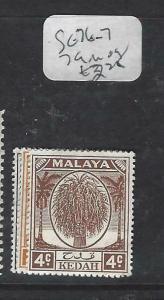 MALAYA  KEDAH  (P0704BB)  TREE 1C,2C,4C  SG 76-7, 79  MOG