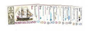 Norfolk Islands, 100-13, Ships Singles, MNH