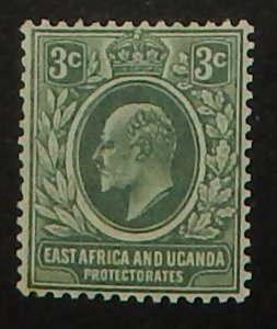 East Africa and Uganda 32. 1907 3c Gray green KEVII