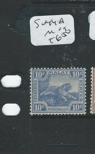 MALAYA FMS (P0610B) 10C TIGER  SG 44A    MOG