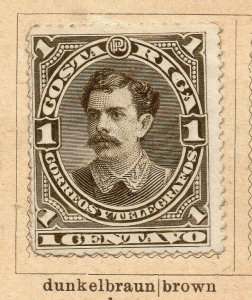 Costa Rica 1899 Early Issue Fine Mint Hinged 1c. NW-09187
