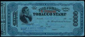 U.S. REV. TAXPAIDS TF247  Used (ID # 88833)- L
