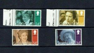 Gibraltar: 1996 Europa, Famous Women, Diana Princess of Wales etc. MNH set