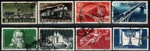 Switzerland #308-11, 312-15  F-VF Used CV $5.70 (X1170)