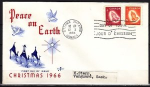 Canada, Scott cat. 451-452. Christmas issue. First day cover. ^