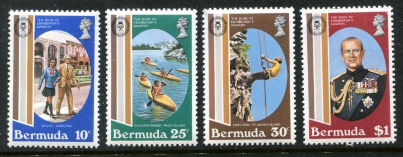 Bermuda 415-418, MNH Duke of Edinburgh's Awards, 25th Ann. 1981. Girl  x13748