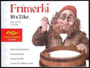 Iceland Sc# 896k MNH Complete Booklet 1999 35k Christmas