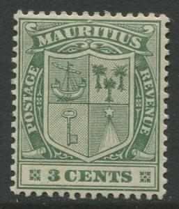 STAMP STATION PERTH Mauritius #139 Coat of Arms MH Wmk 3 1910 CV$3.25