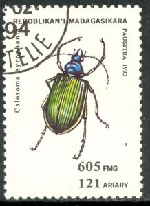 MALAGASY REPUBLIC 1994 605fr INSECTS Issue Sc 1219 VF CTO USED