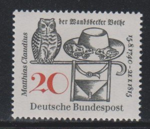 Germany,  20pf Matthias Claudius (SC# 917) MNH