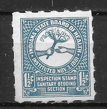 State Tax Stamp Indiana Board of Health Bedding Stamp (18-502)