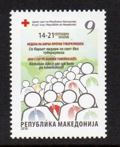 MACEDONIA - 2018 - RED CROSS - FIGHT AGAINST TUBERCULOSIS -